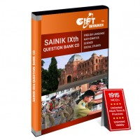 Sainik School Question Bank CD for Class IX